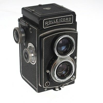 Rolleicord III TLR Film Camera Xenar 75mm f3.5 With Case Slow Shutter Dust Haze