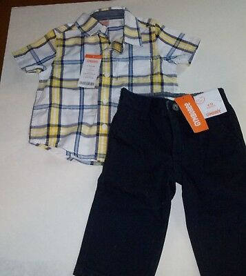 gymboree baby boy 6-12 months 2 pc Outfit Pants & Shirt