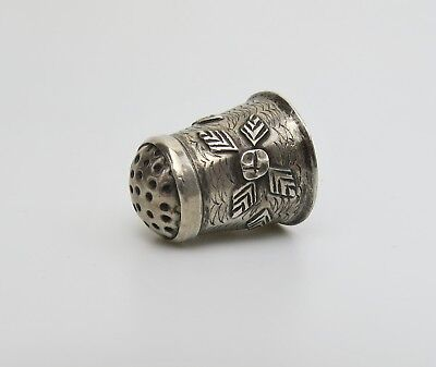Native American Navajo thimble sterling silver vintage Fred Harvey era style