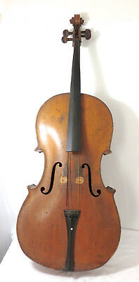 Rare! Dated 1829 Antique American Cello By Z L Hodges Taunton Massachusetts