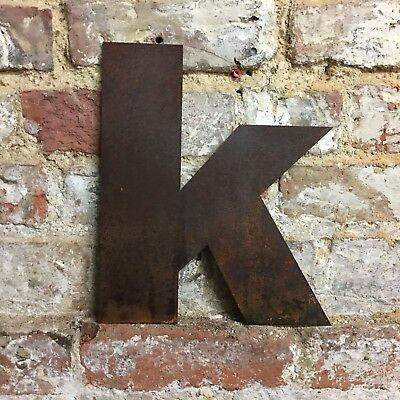 k LOWER CASE RUSTY METAL LETTERS SHOP HOME VINTAGE WORD RUSTIC INDUSTRIAL SIGN