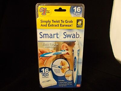 Smart Swab Disposable Ear Wax Removal Safe Cleaner System w 16 Replacement Tips