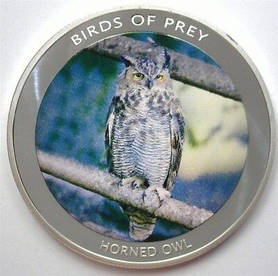 Birds Of Prey 2010 10 Kwacha - Horned Owl - Proof Coin  Malawi