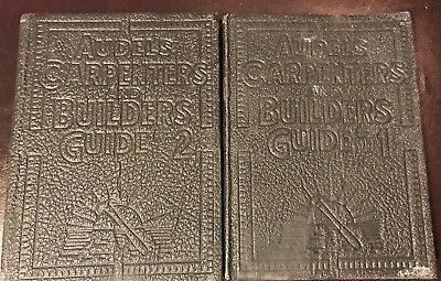 Audels carpenters and builders guides 1939 2 volumes