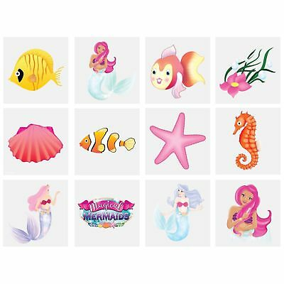 Mermaids Temporary Tattoos Kid Party Bag Fillers Childrens Children's Boys Girls