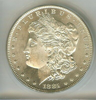 1881-O Morgan Silver Dollar  Icg Ms65  Better Date This Nice!