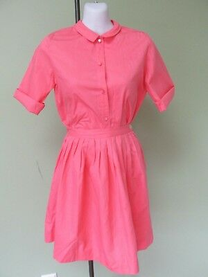 """Ladies Vintage 1960's Coral 2 Pc. Skirt And Blouse /  Miss Brent /  36"""" Bust"""