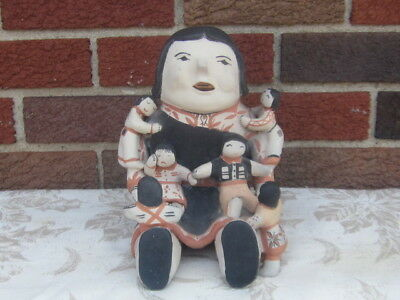Old Pueblo Cochiti Indian Pottery Storyteller Doll ADA SUINA EX!
