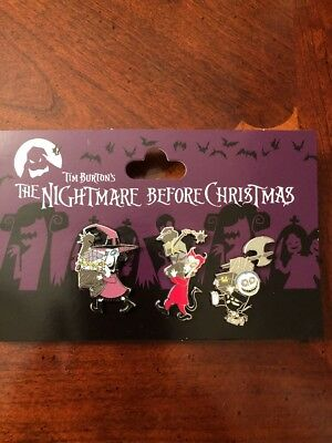 Disney Nightmare Before Christmas 3 Pin set Lock, Shock & Barrel