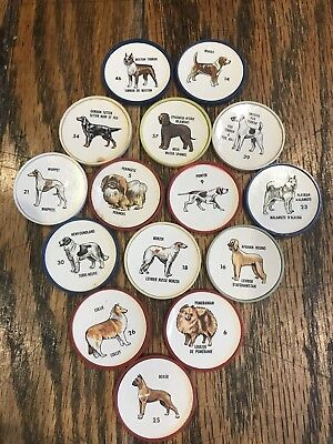 Humpty Dumpty dog vintage collector coins 1960's 15 Coin Set