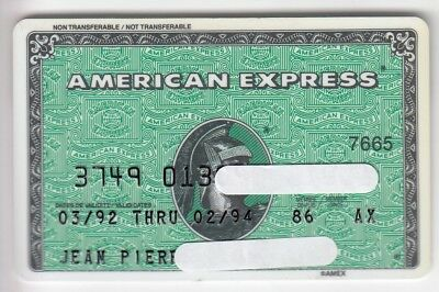 Carte / Card  Banque Bank Credit .. Old Amex American Express Perimee Magnetique