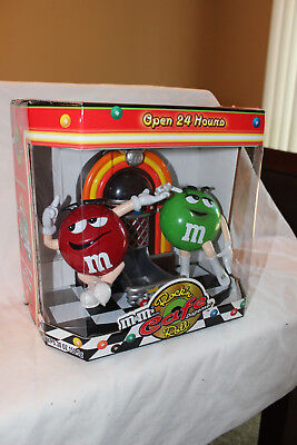 "M&m Rock'n Roll Cafe Candy Dispenser - New In Box - 8"" Tall - 1St Edition - 2001"