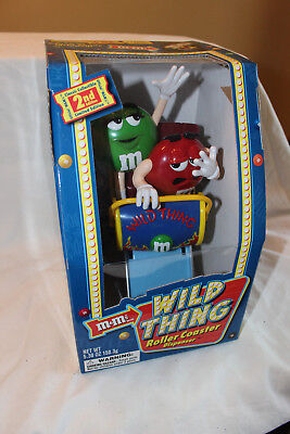 M&m Wild Thing Roller Coaster Candy Dispenser - New In Box - 2Nd Edition - 2002