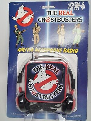 Vintage The Real Ghostbusters AM/FM Headphone Radio, New Old Stock, Concept 2000