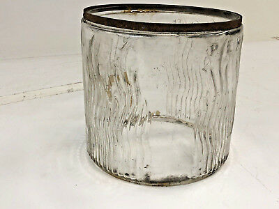 Vintage PERFECTION HEATER GLASS GLOBE replacement only pyrex kerosene insert old