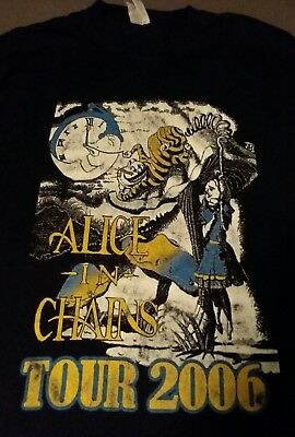 Alice In Chains Tour Shirt Retro Vintage Band XL Black Rare 2006 2 sided AIC