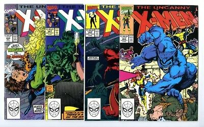 Uncanny X-Men #264,265,267,269 Avg NM Marvel Comics