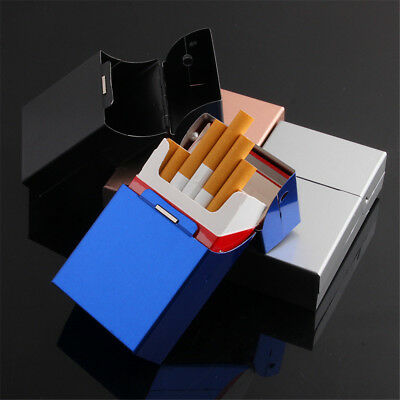 Metal Cigar Cigarette Tobacco Case Aluminum Holder Storage Container Pocket case
