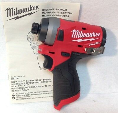 Milwaukee 2553-20 New M12 FUEL 12V Li-Ion Brushless 1/4 in. Hex Impact Driver BT