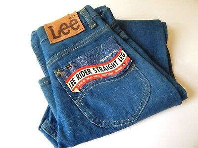 Vintage 70s LEE Blue Jeans Denim Pants Dead Stock 27X34