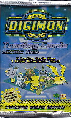 DIGIMON - Series 2 Animated Edition Trading Card Packs (23) #NEW