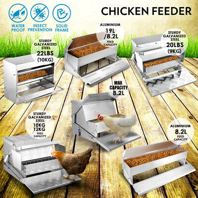 New Multi Aluminium Auto Chicken Feeder Treadle Self Opening Feed Chook Poultry