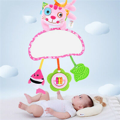 Baby Infant Rattles Plush Animal Stroller Hanging Bell Play Toy Doll Soft Bed BS