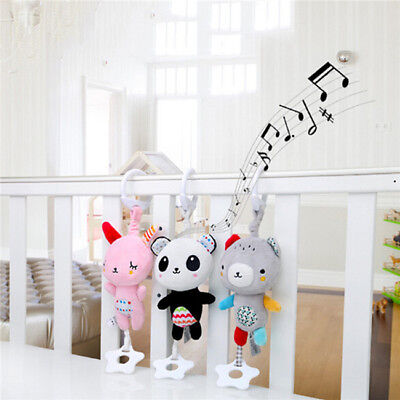 Baby Stroller Plush Soft Toys Crib Bed Hanging Animal Handbell Infant Toy Z