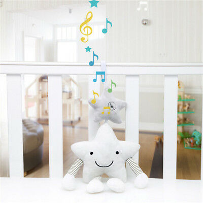 Baby Newborn Rattles Plush Star Stroller Pram Bed Music Hanging Bell Toy Doll Z