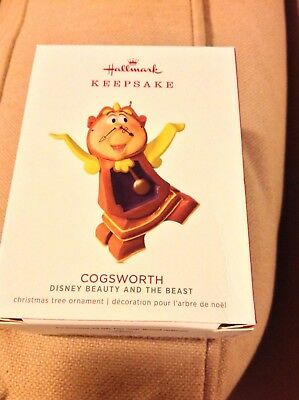 2018 Hallmark LIMITED EDITION Cogsworth Disney Beauty Beast NIB hard to get!NR
