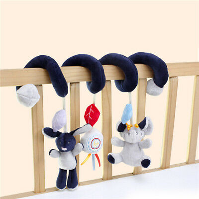 Baby Toys Musical Elephant Multifunctional Crib Hanging Bed Bell Educational LD