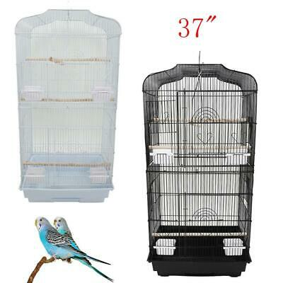 "37"" Bird Parrot Cage Canary Parakeet Cockatiel LoveBird Finch Bird Cage 2 Colors"