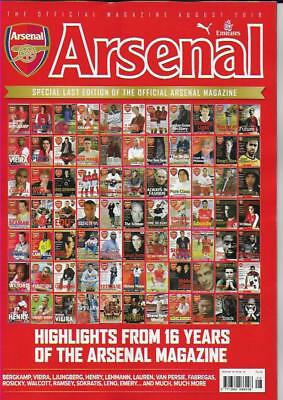 ARSENAL OFFICIAL MAG- August 2018 (NEW)*Post included to UK/Europe/USA/Canada