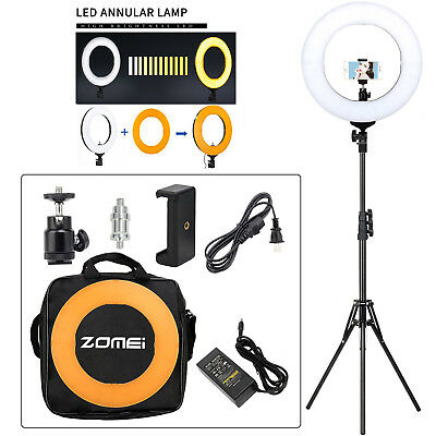 "ZOMEI 14"" LED Ring Light with Stand Dimmable Makeup Light Photography Video Kit"