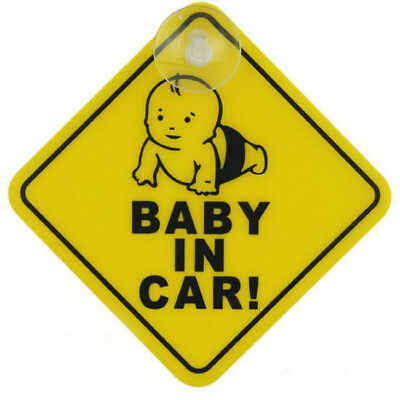 Car Baby Warning Safety Suction Sticker Baby on Board Baby Auto BS