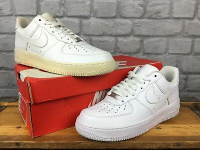 a450de004 Nike Mens Uk 7 Eu 41 White Air Force 1 Low Leather Basketball Trainers