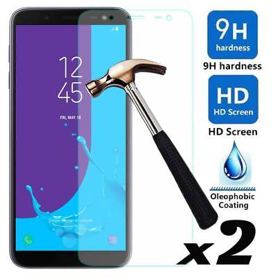 2 x 9H Hardness HD Tempered Glass Screen Protector For Samsung Galaxy J4/J6 2018