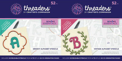 Crafter's Companion Threaders Monogram Maker  - Your choice - FREE P&P