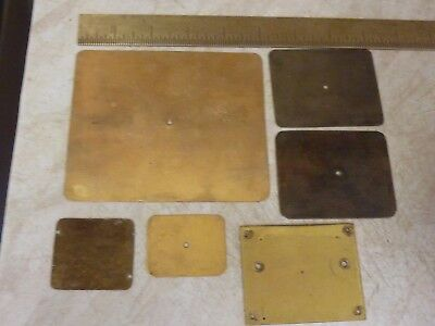 Useful Lot Old-Antique Carriage Clock Baseplates
