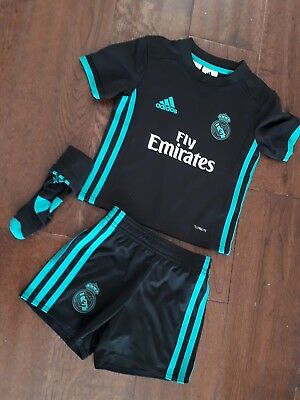 GENUINE  Baby Boys Real Madrid KIT  Shorts & Top Age 18/24 Months/SUPERB ADIDAS