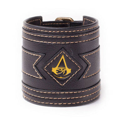 NEW! Assassin's Creed Origins Crest Wristband One Size Black/Yellow WB230567ACE