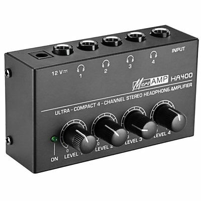 Mosky 4-Channel Stereo Headphone Amplifier Microamp Ha400 Ultra-Compact