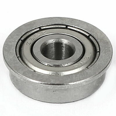 8mm x 18mm x 5mm Sealed Typel F688ZZ Flanged Ball Bearing Silver Tone