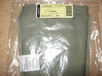 Longaberger Spring Basket Liner Sage Green Mint Condition in bag FREE SHIPPING!