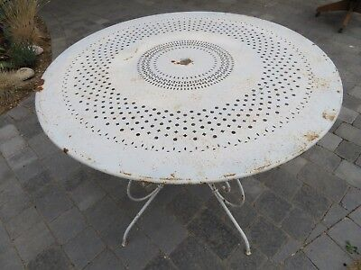 vintage shabby chic metal french garden table white