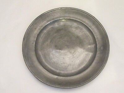 Good 19th Century Pewter Side Plate - Antique - Kitchenalia