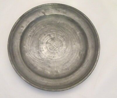 A 19th Century Pewter Dinner Plate - Named - Antique - Kitchenalia