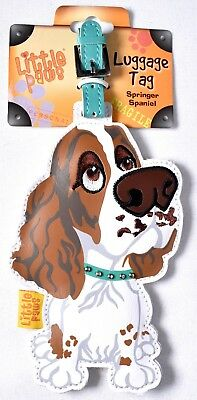 LITTLE PAWS Luggage Tag Brown & White Springer Spaniel 3800-LPLT-SSL >NEW<