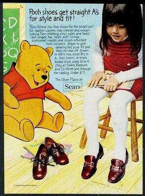 1971 Winnie the Pooh art Sears girls shoes photo vintage print ad