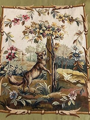"""ANTIQUE 18C AUBUSSON FRENCH HAND WOVEN SILK TAPESTRY CUSHION 20.5"""" By 24.5"""""""